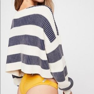 Free People Sweaters - Free People Just My Stripe Pullover Sweater